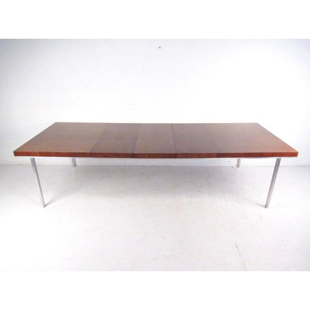John Stuart Rosewood, Chrome & Leather Dining Set - Image 4 of 11