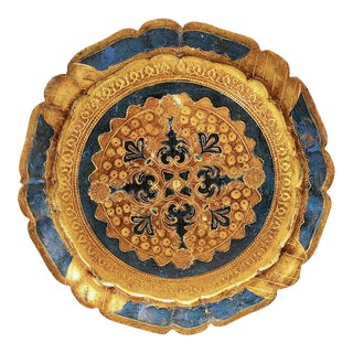 Italian Hand-Painted & Gilded Florentine Tray