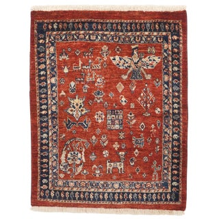"""Hand-Knotted Persian Rug - 2'4"""" x 2'10"""""""