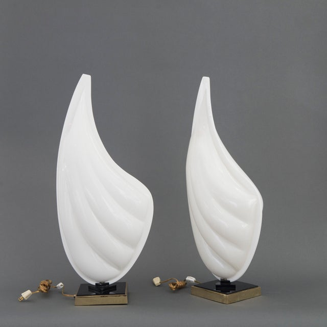 Pair of Rougier Resin Shell Lamps - Image 3 of 5