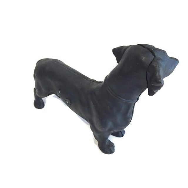Image of Vintage Cast Iron Dachshund Coin Bank or Doorstop