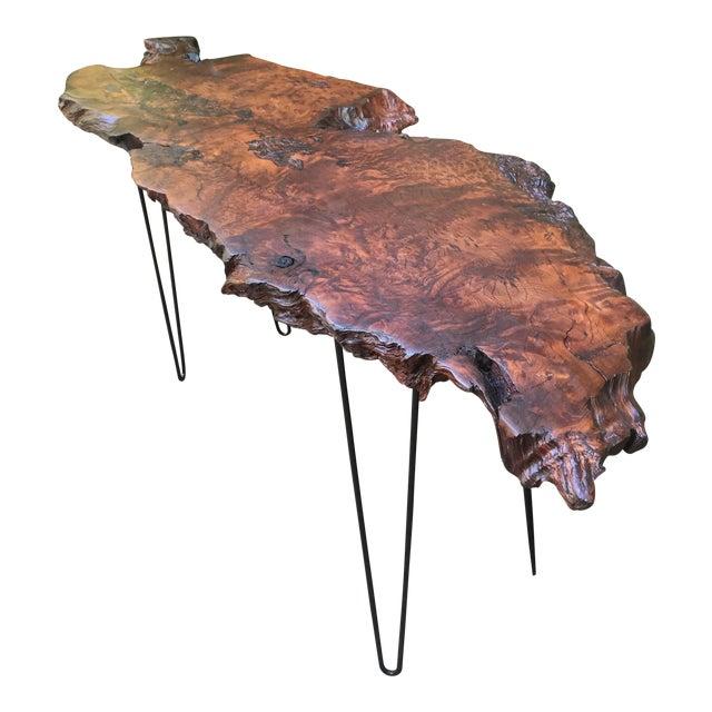 California Redwood Coffee Table: California Redwood Burl Entryway Table