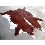 Image of Cowhide Brown & White Rug - 7' x 8'
