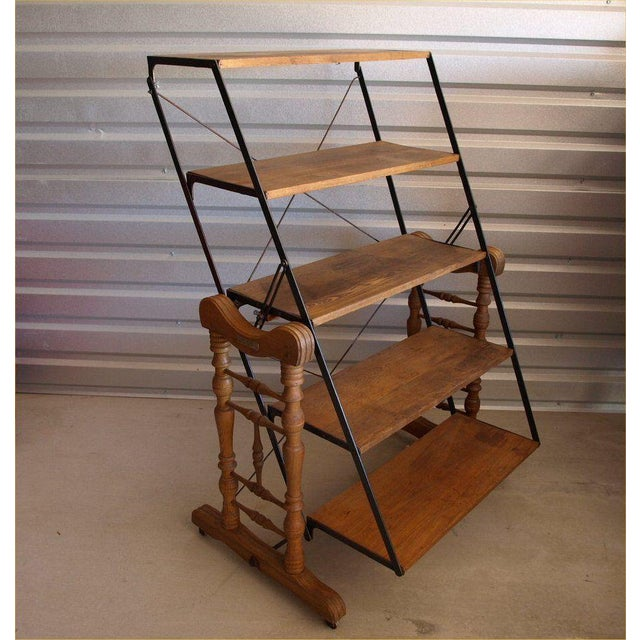 Yesbera Antique Baker Tilt Table/Shelving Unit - Image 2 of 8