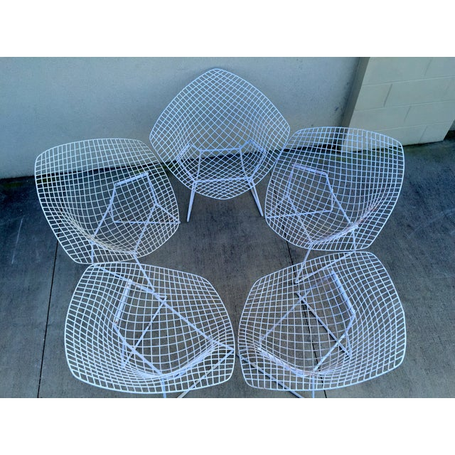 Harry Bertoia Mid-Century White Chairs - Set of 5 - Image 3 of 11