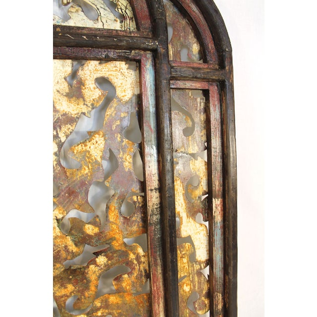 Image of Large Rustic Metal and Wood Wall Sculpture