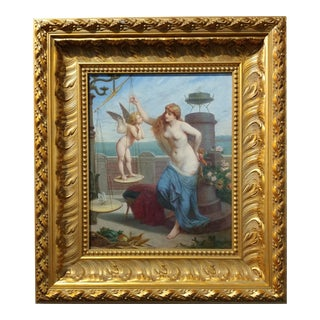 1894 Original Henry Picou Oil Painting on Canvas