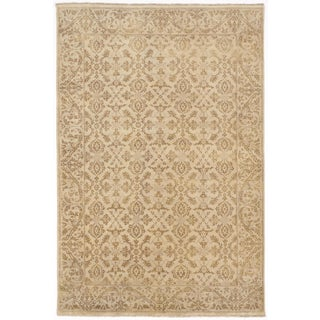 """Hand-Knotted Indian Rug - 6' x 8'10"""""""