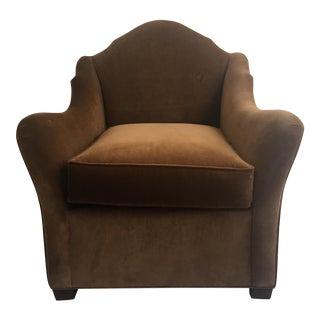 "Bunny Williams ""Pierre"" Brown Velvet Chair"