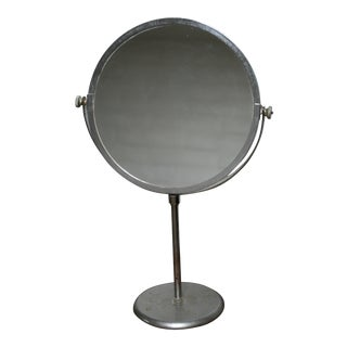 Large Antique Store Display Counter Top Mirror