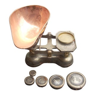 19th C. Laboratory Scale & Weights