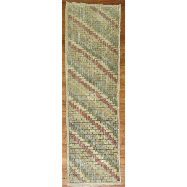 Image of Vintage Deco Turkish Runner - 1'6'' X 5'3''