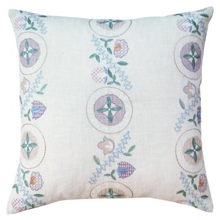 Countryside Embroidered Pillow