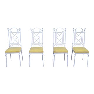 Vintage Enameled Chippendale Dining Chairs- Set of 4