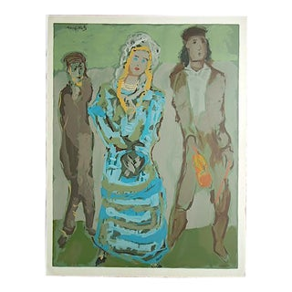 Large Mid 20th C. Ltd. Ed. Lithograph-Mane-Katz
