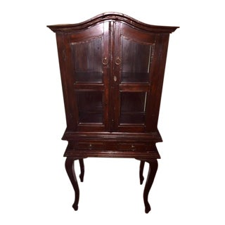 Cherry Wood Traditional Armoire Chest