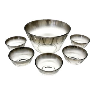 Dorothy Thorpe Silver Ombré Salad Bowl Set - Set of 6