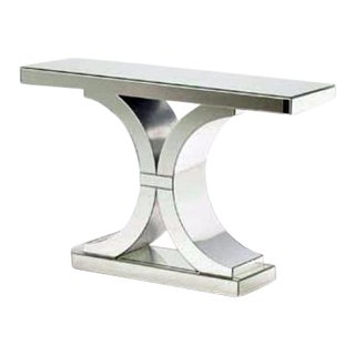 Modern Design Mirrored Double C Console