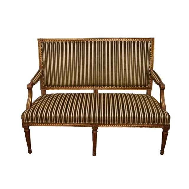 Antique Louis XVI Settee From Sotheby's - Image 1 of 9