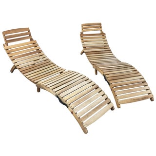 Noble House Lawn Chaise Lounges - A Pair