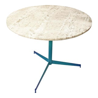Vintage Travertine Ombre Table