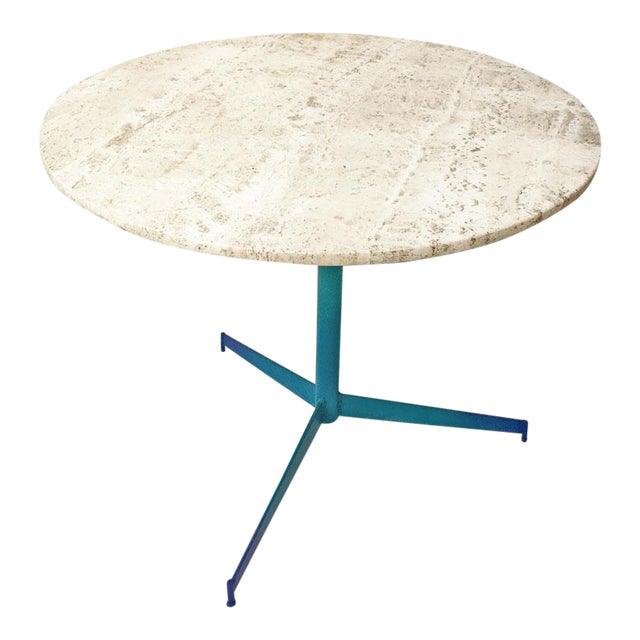 Vintage Travertine Ombre Table - Image 1 of 7