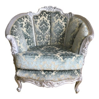 Victorian Carved Barrel Back Chair