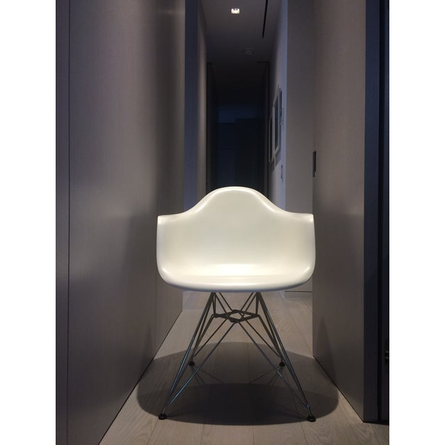 Eames White Molded Armchairs - A Pair - Image 6 of 9