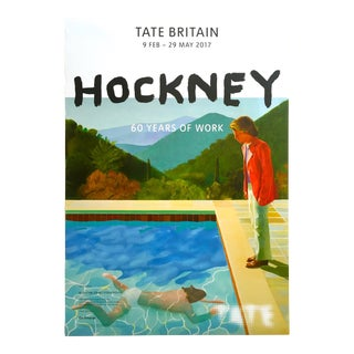 "David Hockney Tate Museum Lithograph Print ""60 Years of Work"" Exhibition Poster"