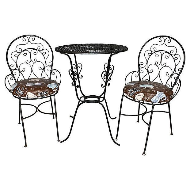 1950s Wrought Iron Bistro Set - Set of 3 - Image 2 of 10