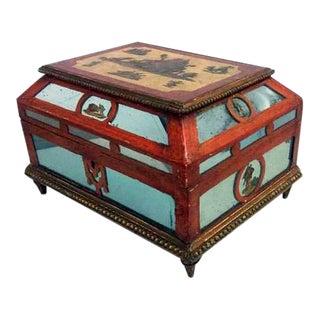 Antique 19th C. European Ornate Wooden Box