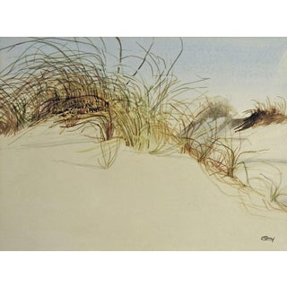 Dunes & Grass Watercolor Painting