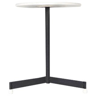 Mid-Century Modern White Top End Table