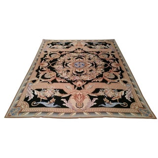 Needlepoint Hand Made Rug - 8′ × 10′