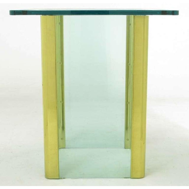 Elegant Etched Glass Game Table In The Style Of Pace Collection - Image 4 of 8