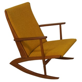 Georg Jensen Danish Teak Boomerang Rocking Chair