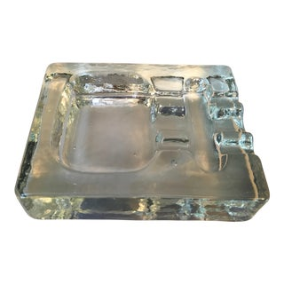 Vintage Mid-Century Glass Ashtray
