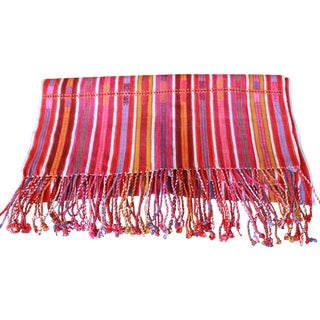 Striped Handwoven Mexican Tablerunner