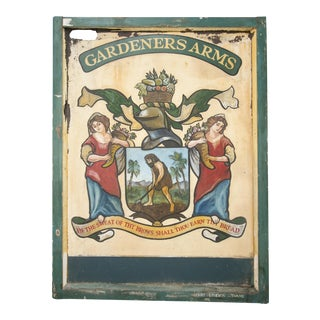 "English ""Gardeners Arms"" Pub Sign"