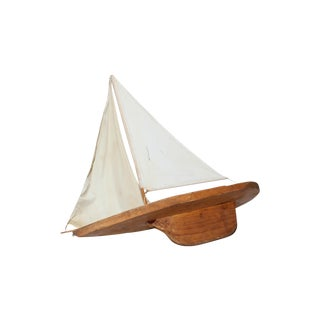 Large Wood Toy Sailboat