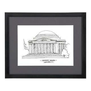 Jefferson Memorial, Washington D.C. Framed City Print
