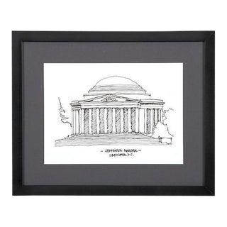 Jefferson Memorial, Washington D.C. Framed City Print