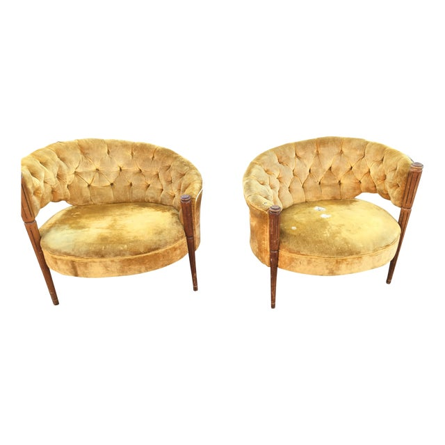 Image of Asymmetrical Deco Chairs - Pairs
