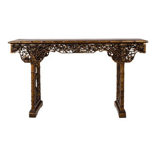 Hand-Carved Vintage Asian Console Table