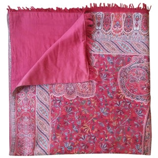 Currant Embroidered Throw