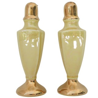 Yellow Porcelain Salt & Pepper Shakers - A Pair