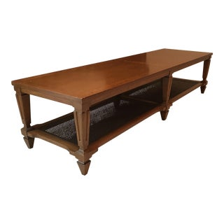 Vintage Lane Caned Shelf Coffee Table