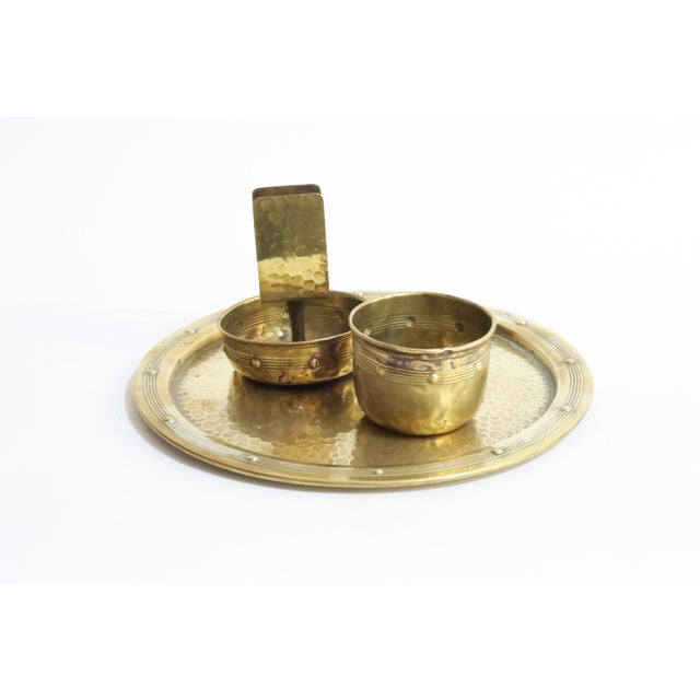 Image of Hammered Brass Serveware - Set of 3