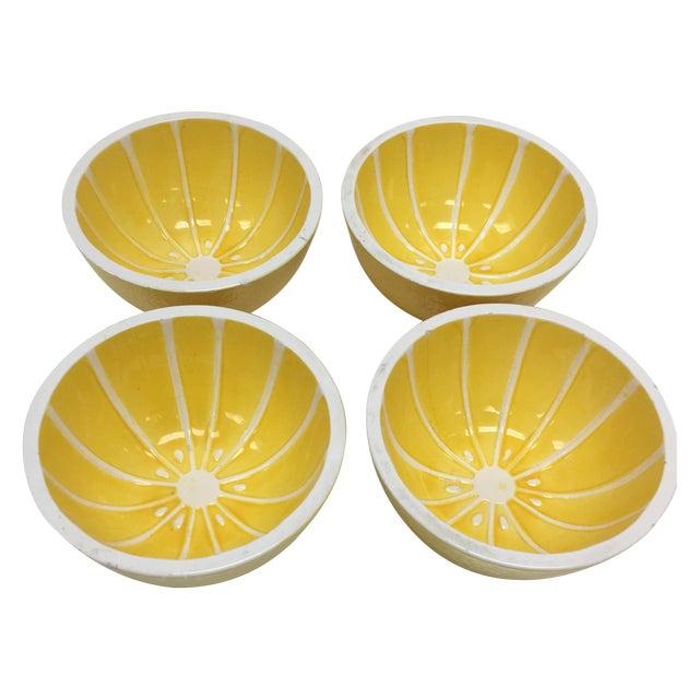 Vintage Yellow Grapefruit Bowls - Set of 4 - Image 1 of 10