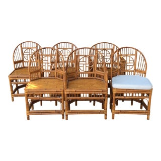 Chinoiserie Bamboo Dining Chairs - Set of 6